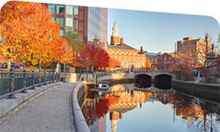 Providence, Rhode Island in the fall.