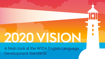 drawing of lighthouse with the word 2020 vision A fresh look at the wIDA English Language Development Standards