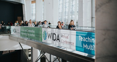 people along balcony at wida conference
