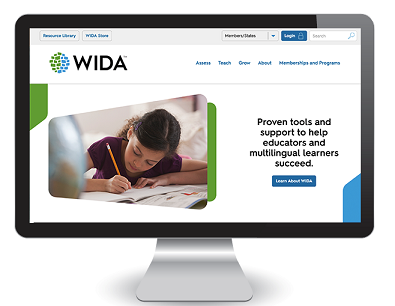 Preview of the WIDA Website